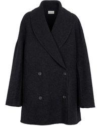 The Row Cappotto Polli in lana e cashmere - Grigio