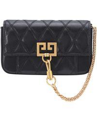 Givenchy Bolso al hombro Mini Pocket de piel - Negro