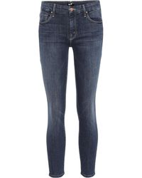 Mother - The Looker Cropped Skinny Jeans - Lyst