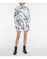 Les Tien Sweatshirt aus Baumwolle - Blau