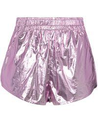 Isabel Marant Shorts Gateci de algodón metalizados - Multicolor