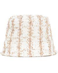Maison Michel Exclusive To Mytheresa – Axel Tweed Bucket Hat - White