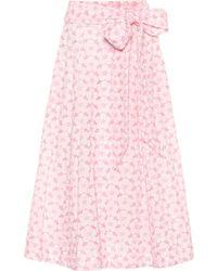 Lisa Marie Fernandez - Cotton Eyelet Lace Skirt - Lyst