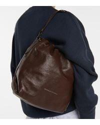 Brunello Cucinelli Leather Bucket Bag - Brown