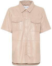 Stand Studio Danna Leather Shirt - Natural