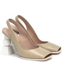 Jacquemus Les Chaussures Valerie Leather Pumps - Green