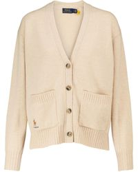 Polo Ralph Lauren Wool And Cashmere-blend Cardigan - White
