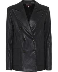 Stouls Jones Leather Blazer - Black