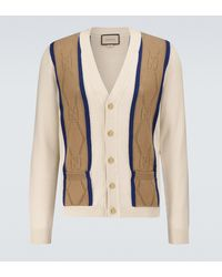 Gucci Cárdigan GG en algodón calado - Blanco