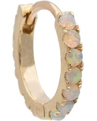 Maria Tash 18kt Gold Single Hoop Earring With Opals - Metallic