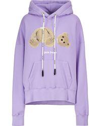 Palm Angels Logo Cotton Jumper - Purple