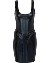 Mugler Vestido grabado - Negro