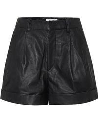 Étoile Isabel Marant Shorts Abot de piel de tiro alto - Negro