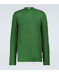 Jil Sander Jersey de punto de lino - Verde