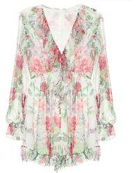 Zimmermann Bellitude Floral Silk Jumpsuit - Multicolour