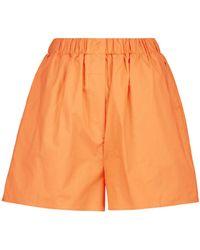 Frankie Shop Shorts Lui aus Baumwolle - Orange