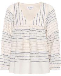Velvet - Mixed Stripe Cotton Top - Lyst