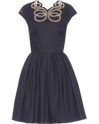Fendi Jeanskleid in A-Linie - Blau