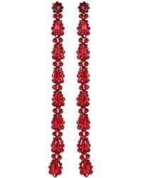 Simone Rocha Orecchini pendenti con cristalli - Rosso