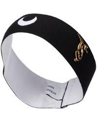 Marine Serre Exklusiv bei Mytheresa – Verziertes Haarband - Schwarz