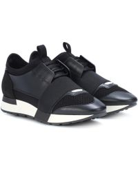 Balenciaga Speed High-top-sneakers Aus Stretch-strick - Schwarz