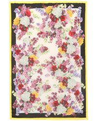 8622ed933fac Dolce   Gabbana - Foulard en cachemire mélangé imprimé - Lyst
