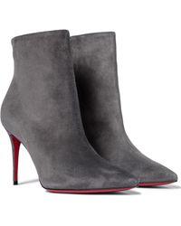 Christian Louboutin Ankle Boots So Kate 85 - Grau