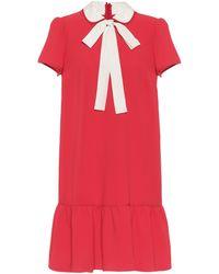 RED Valentino Minikleid aus Crêpe - Rot