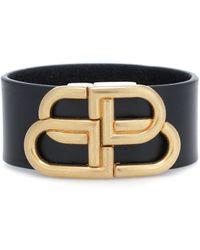 Balenciaga Bracelet noir Large BB