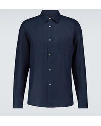 Derek Rose Camisa Monaco 2 de lino - Azul