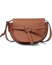 Loewe Gate Mini Leather Crossbody Bag - Brown