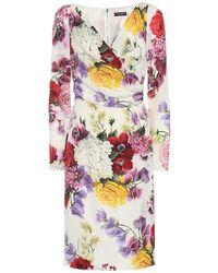 Dolce & Gabbana Vestito a fiori - Bianco