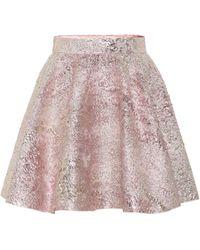 Dolce & Gabbana High-rise Jacquard Miniskirt - Pink