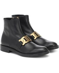 Tod's Kate Leather Ankle Boots - Black