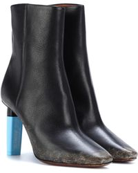 Vetements Leather ankle boots - Negro