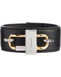 Givenchy Armband Lock aus Leder - Schwarz
