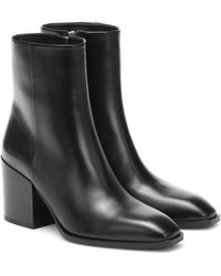 Aeyde Leandra Leather Ankle Boots - Black
