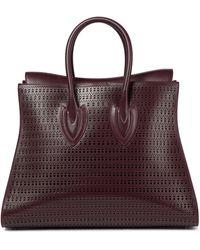 Alaïa Sidi 41 Medium Leather Tote - Purple