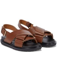 Marni Sandalen aus Leder - Braun
