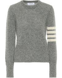 Thom Browne Jersey de lana - Gris