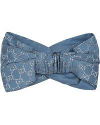 Gucci Haarband mit Seidenanteil - Blau