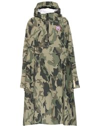 Canada Goose Poncho Field a stampa camouflage - Verde