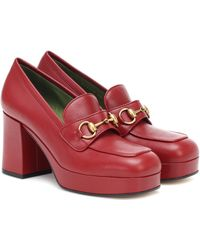 Gucci Loafer mit Horsebit-Schnalle - Rot