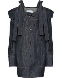 Matthew Adams Dolan - Off-the-shoulders Denim Jacket - Lyst