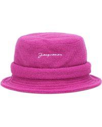 Jacquemus Pink Wool Le Bob Bucket Hat