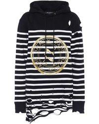 PUMA X Balmain – Sweat-shirt à capuche en coton - Noir