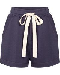 Lee Mathews Vince Organic Cotton Shorts - Blue