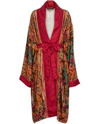 Etro Paisley Belted Kimono - Red