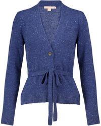 Brock Collection Samira Cashmere Wrap Cardigan - Blue