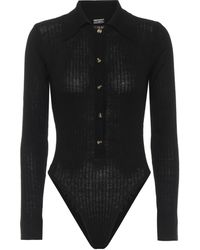 Dodo Bar Or Ribbed-knit Bodysuit - Black